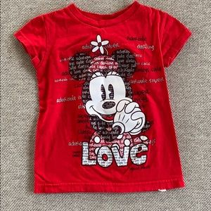 Minnie Mouse red T shirt